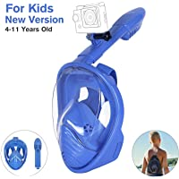 Unigear Snorkel Mask, Full Face Diving Mask Free Breathing Design Anti-fog and Anti-leak Technology with Sport Camera Mount for Adults and Kids