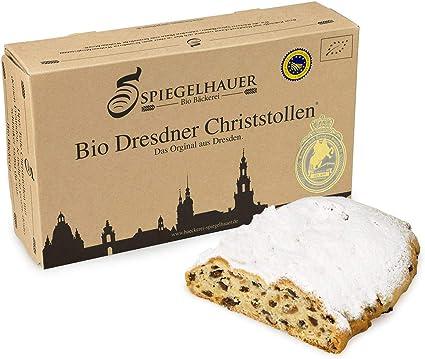 Organico Dresden Stollen de Navidad - verdadero Dresden Stollen con pasas - no sólo en Navidad una delicia - ingredientes 100% orgánicos - Contenido: ...