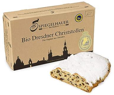 Organico Dresden Stollen de Navidad - verdadero Dresden Stollen con pasas - no sólo en Navidad una delicia - ingredientes 100% orgánicos - Contenido: 1kg ...