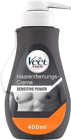 veet Men de crema de depilación con tecnología Silk Fresh,Elimina el vello; DONA 24 horas la humedad