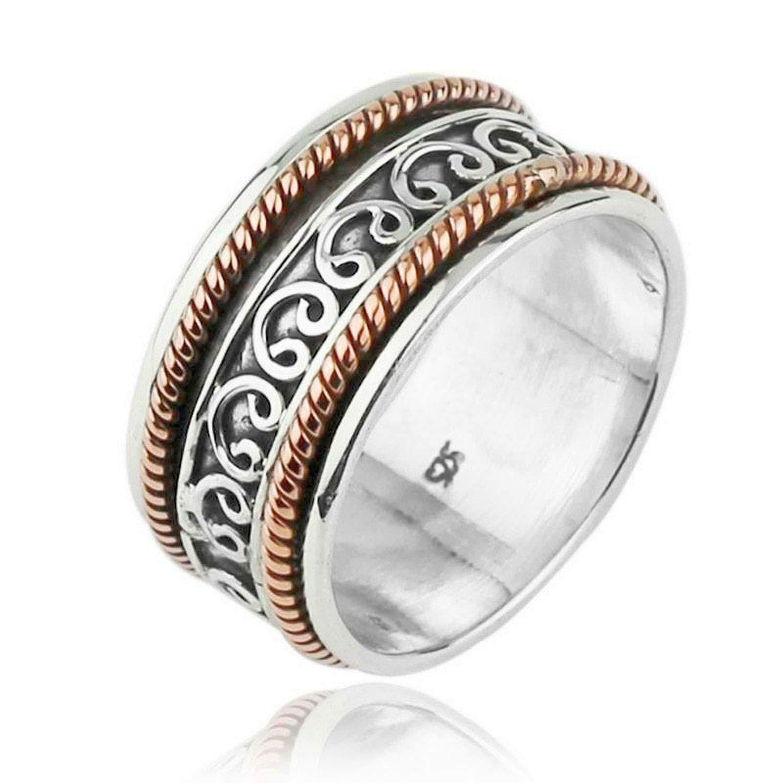 JewelsExporter Sterling Silver Ring.Spinner Ring Meditation Ring Spin-Pray Ring6us
