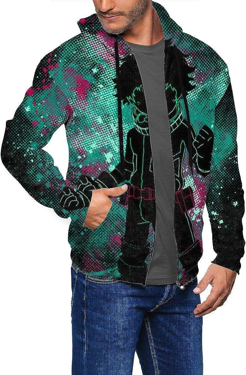 WGJ258R4AB Mens Hooded My Hero-ACA Long Sleeve Zip Zipper Sweatshirts Hoodies Sweaters Jacket Pocket