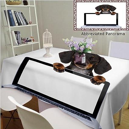amazon com unique custom cotton and linen tablecloths dachshund or