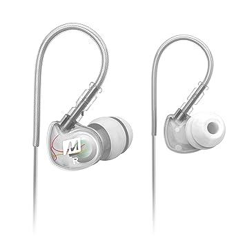 MEElectronics M6-CL - Auriculares in-ear (reducción de ruido, 3.5 mm), blanco