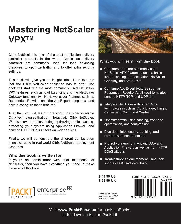 Mastering Netscaler VPX: Rick Roetenberg, Marius Sandbu