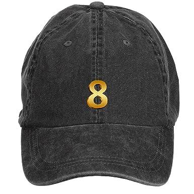 Golden número Ocho de béisbol gorra gorro gorra, color azul ...