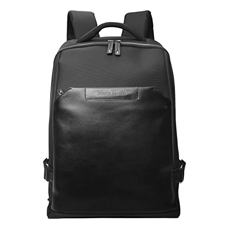 4857d312bfcd Pierre Cardin Genuine Leather Korean Nylon Fabric Backpack for ...