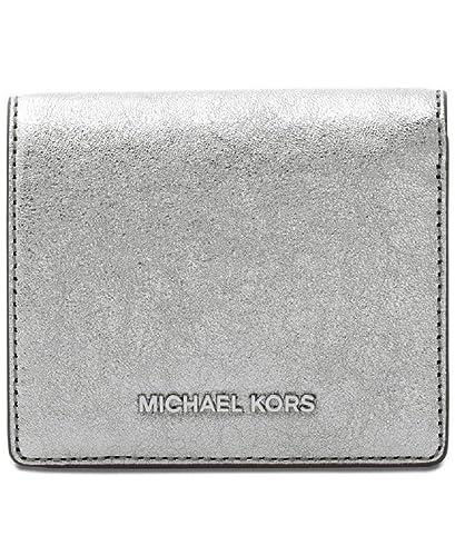 1f0441d5d9db4c Amazon.com: Michael Kors Money Pieces Flap Card Holder Wallet Light Pewter:  Shoes