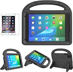 iPad Mini 1/2/3/4/5 Case for Kids, SUPLIK Durable Shockproof Protective Handle Bumper Stand Cover with Screen Protector for Apple 7.9 inch iPad Mini 5th (2019),4th,3rd,2nd,1st Generation, Black