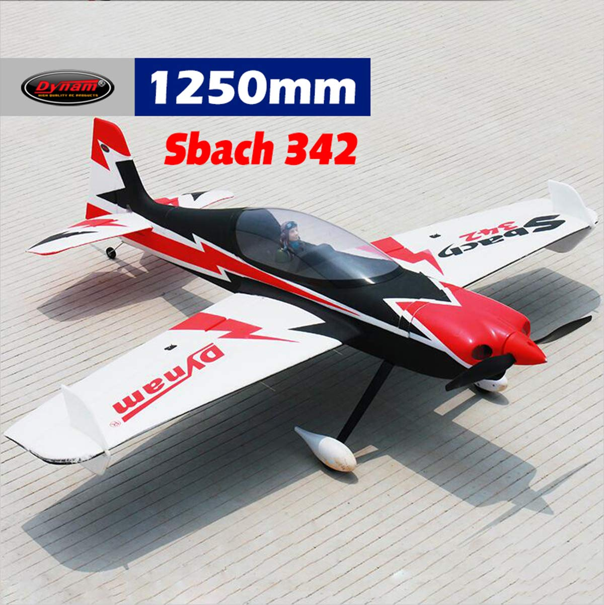 BNP Dynam RC Airplane Sbach 342 1250mm Wingspan  BNP