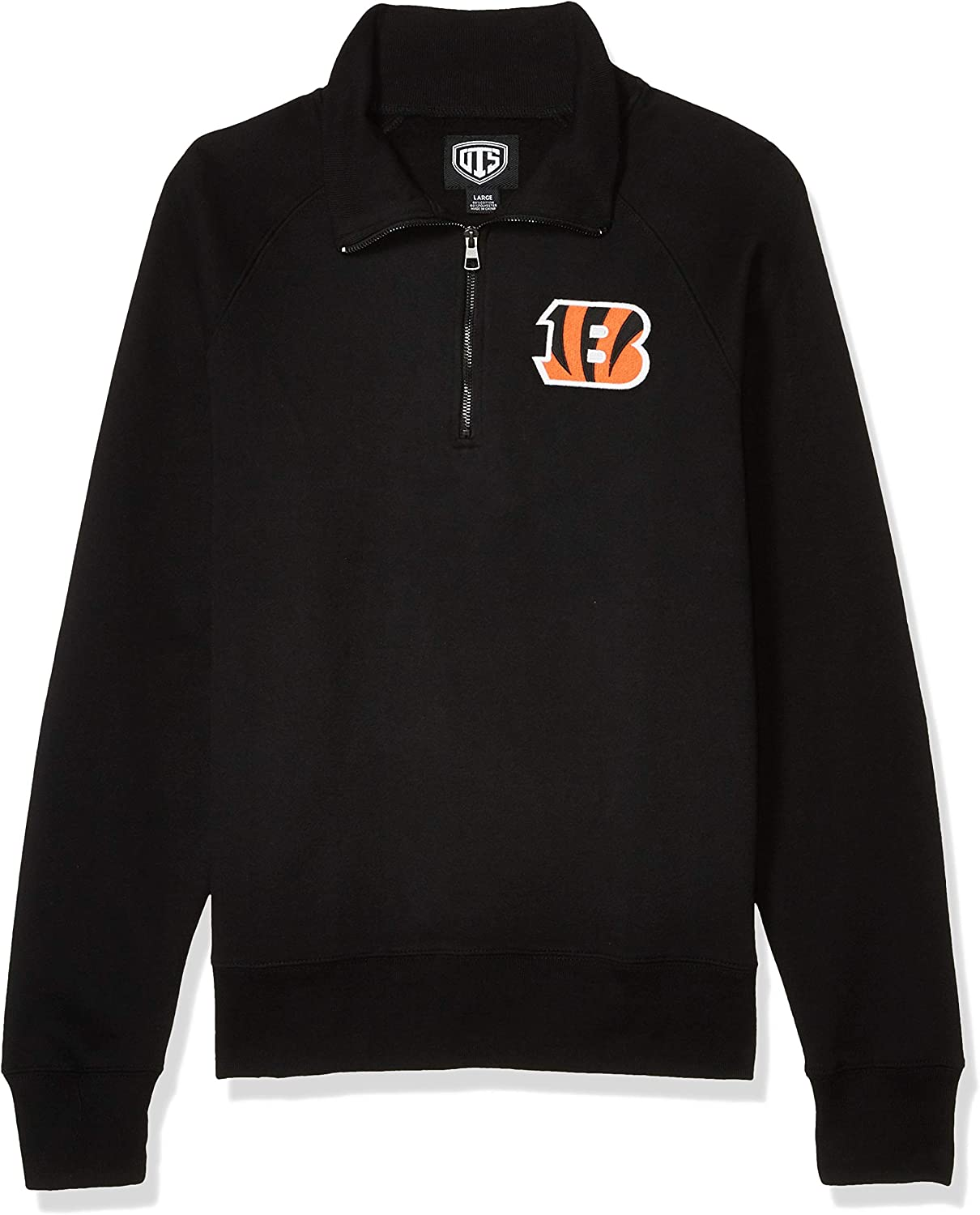 NFL Mens OTS Fleece 1//4-Zip Pullover