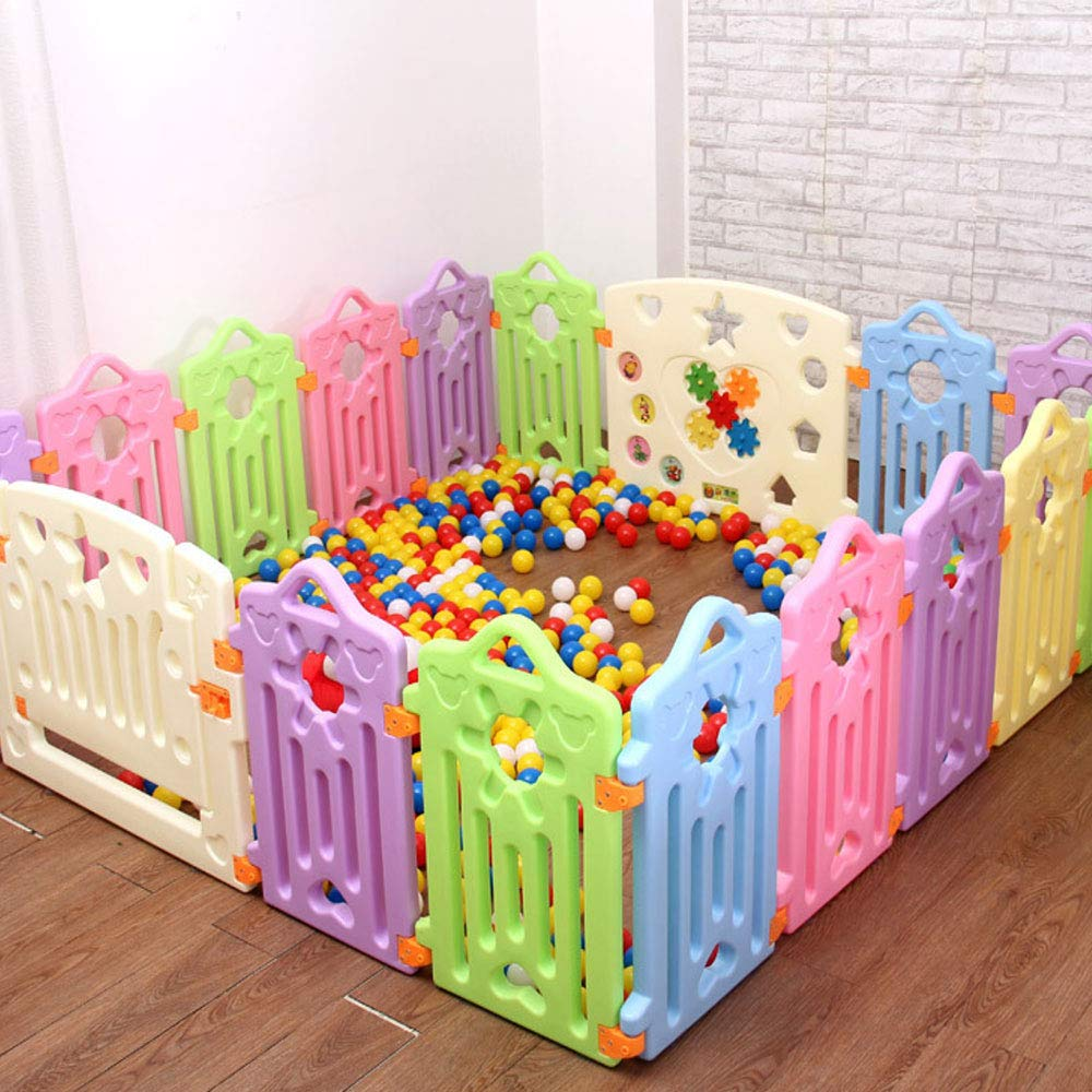16 pieces WHSS Fence Baby Crawling Baby Toddler Safety Fence Indoor Toy Door Bar (UnitCount   8 pieces)
