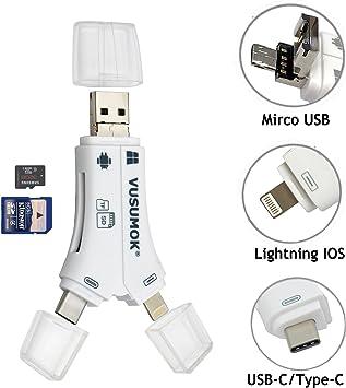 Amazon.com: USB C adaptador de lector de tarjetas, tarjeta ...