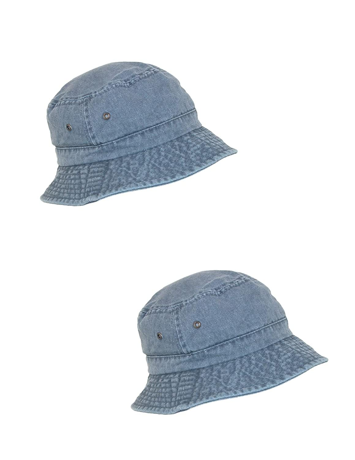 8c5e9a6cf2c Scala Classico Cotton Washed Sun Bucket Hat (Pack of 2) at Amazon Men s  Clothing store