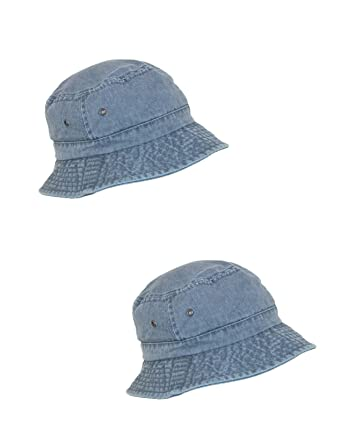 96ecd24cd7f Scala Classico Cotton Washed Sun Bucket Hat (Pack of 2) at Amazon ...