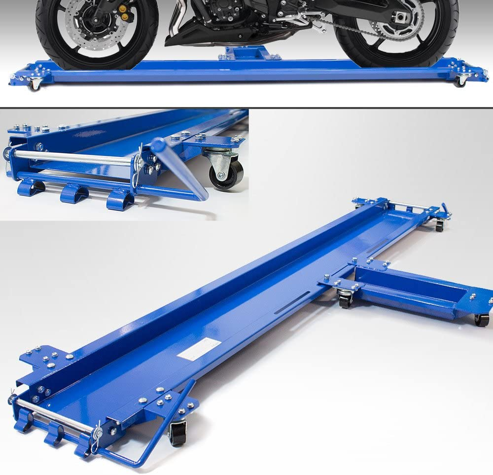Bituxx Motorrad Rangierhilfe Fur Seitenständer Rangierschiene Motorrad Rollwagen Rolli Für Seitenständer Belastbar Bis 270 Kg Auto