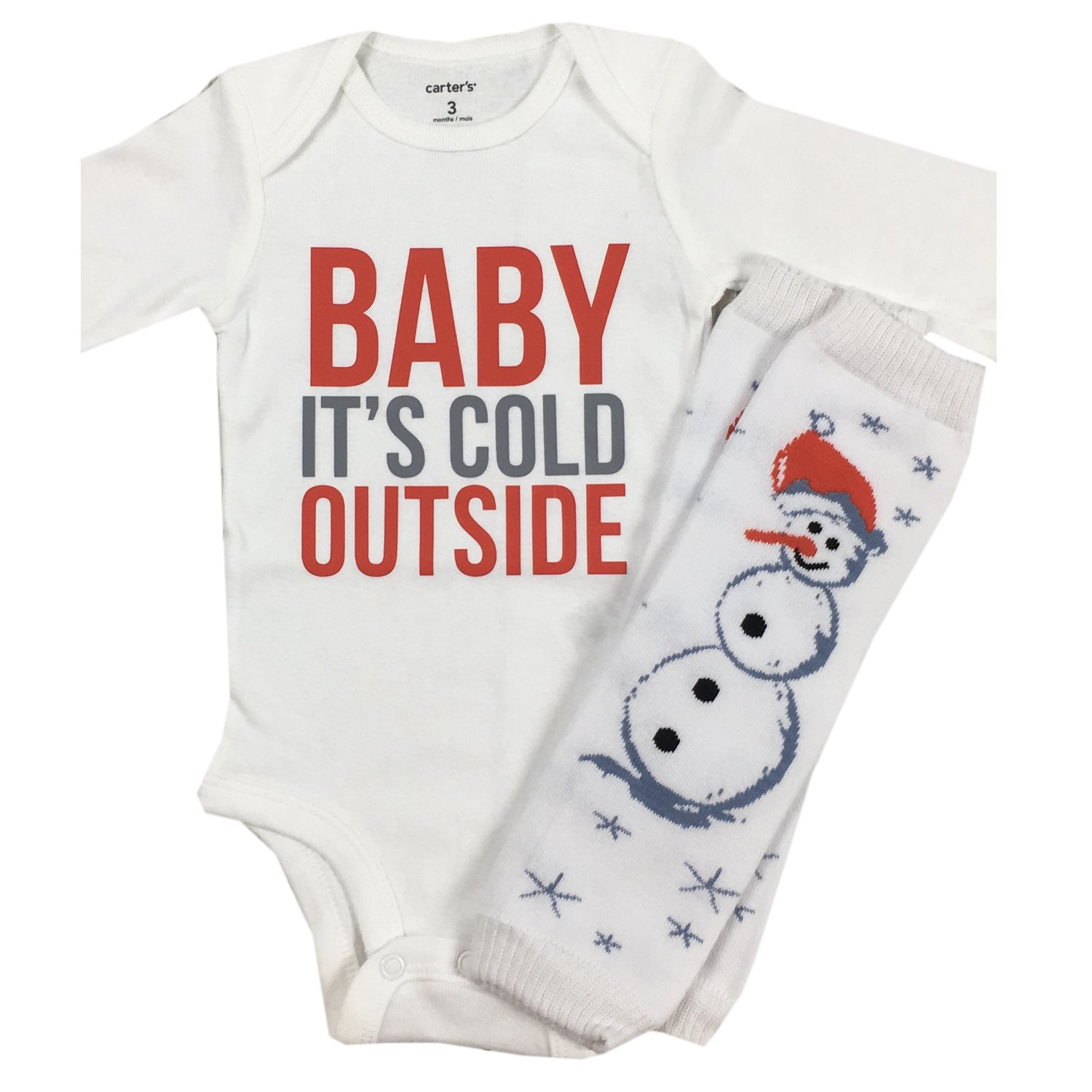 8e08b8df1325 Amazon.com: Simply Swanky Baby Boy Christmas Outfit Baby It's Cold Outside  Baby Winter 2 Piece Outfit: Clothing