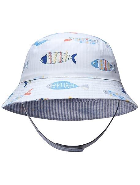 Ateid Cappello da Sole Reversibile per Neonati e Bambini Bianca 6-12 Mesi S 0dc597d98a2a