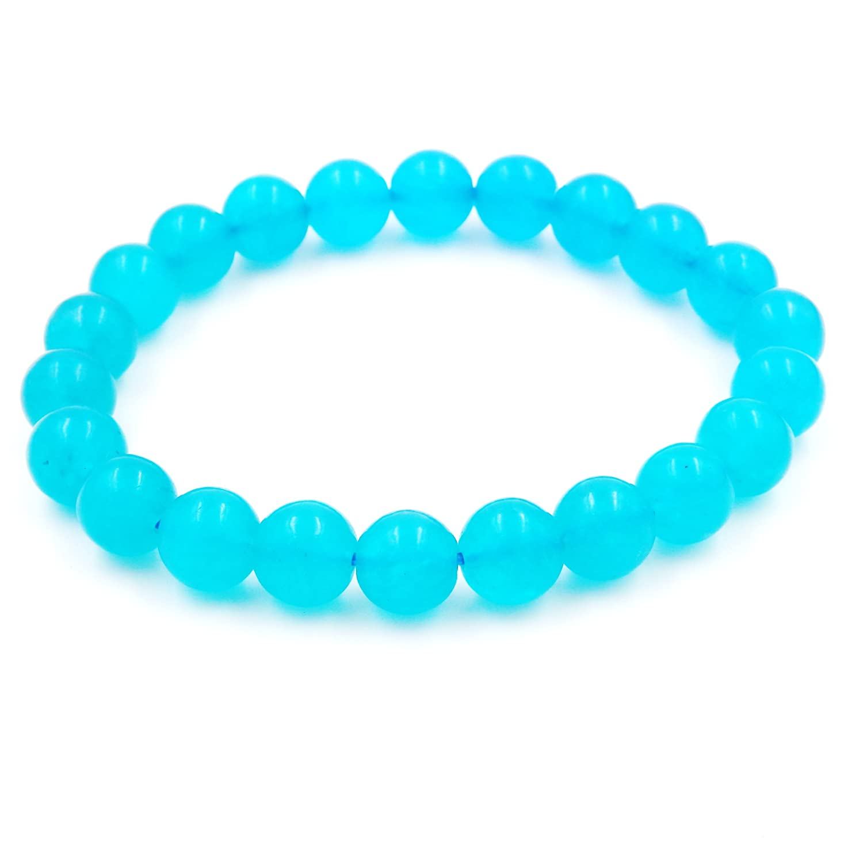 Precious Gemstone Healing Balance Stretch Bracelets, 100% Natural AAA Grade Malahill M004