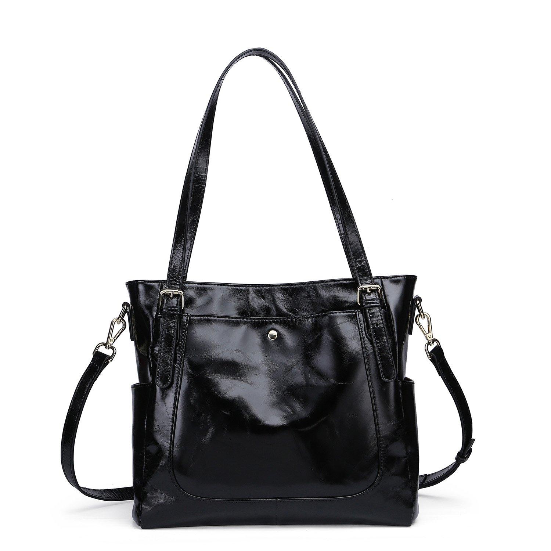 f67a7ffa33f Yafeige Women's Handbag Vintage Soft Genuine Leather Shoulder Tote  Top-handle Bag Cross-Body Bags Satchel Purse