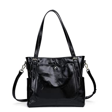 Yafeige Women s Handbag Vintage Soft Genuine Leather Shoulder Tote Top-handle  Bag Cross-Body 03eb343339ed9