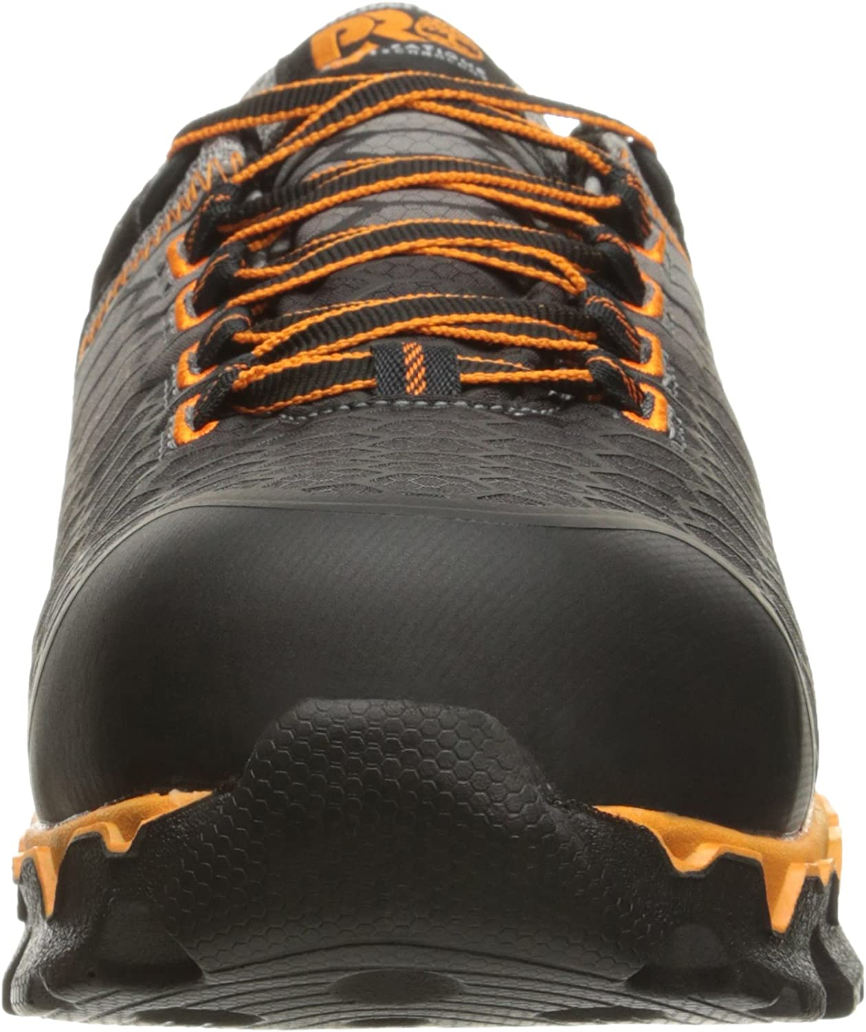 Timberland PRO Men's Powertrain Sport Alloy Toe SD+ Industrial and Construction Shoe Grey Synthetic Orange