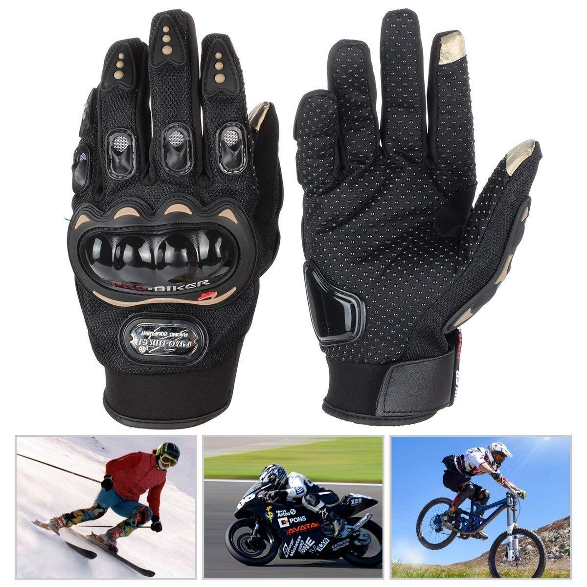 Gants De Moto Avec /Écran Tactile Noir L Escalade,Randonn/ée Et Autres Sports De Plein Air Hors Route Gants Equitation Gants Antid/érapant Gants D/ét/é Pour Motocross Bicyclette Sport Cyclisme VTT