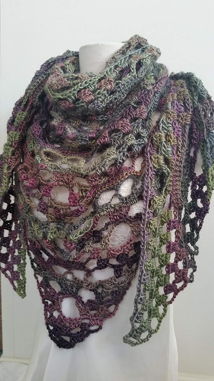 Amazon Triangle Scarf Skull Bandana Scarf Hand Crocheted