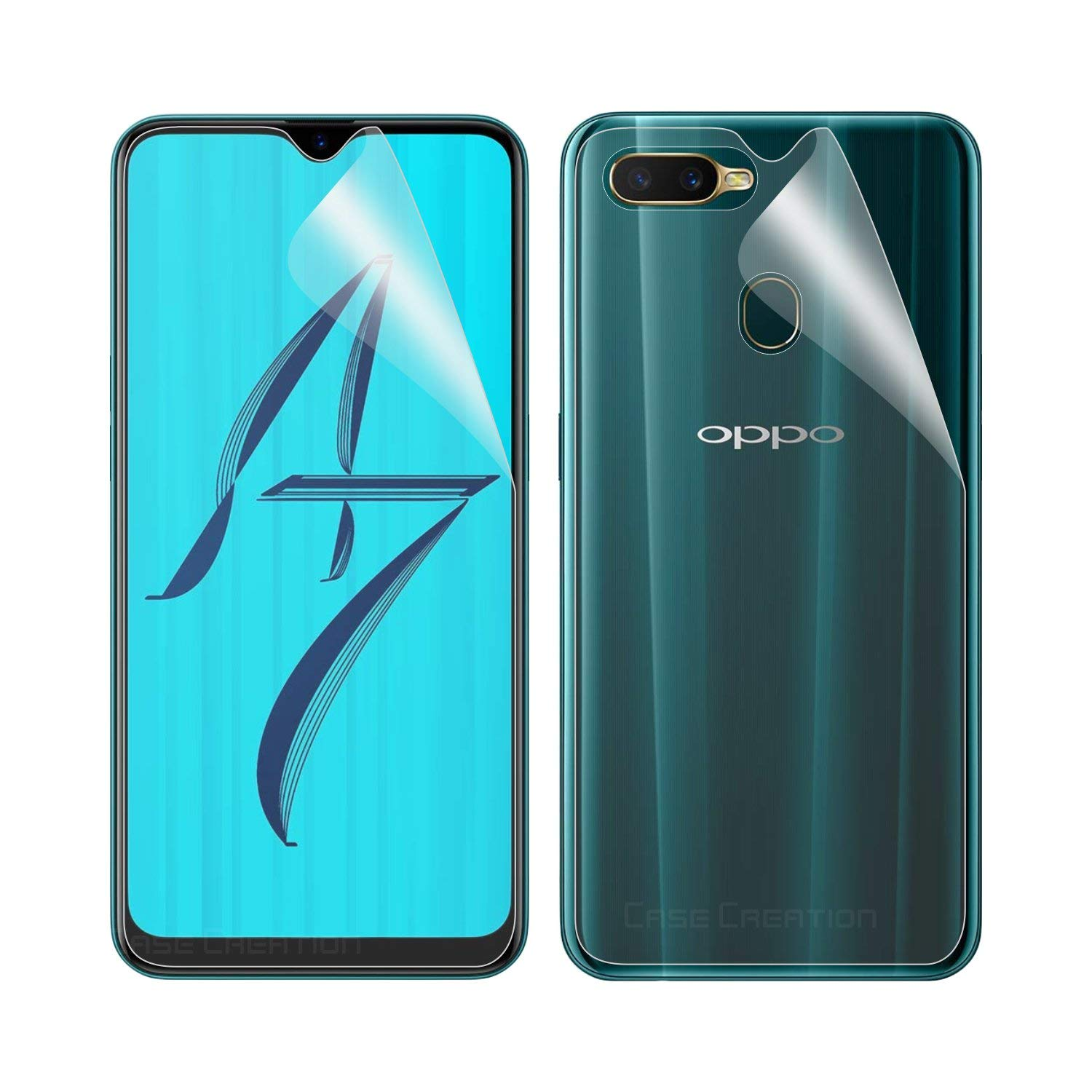 Case Creation Oppo A7 Front Back Protection,HD Screen Guard Scratch  Protector for Oppo A7 / OppoA7 (6.20-inch): Amazon.in: Electronics