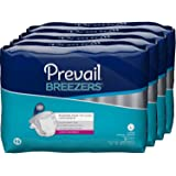 Prevail Breezers Ultimate Absorbency Incontinence Briefs, Large, 18-Count (Pack of 4)