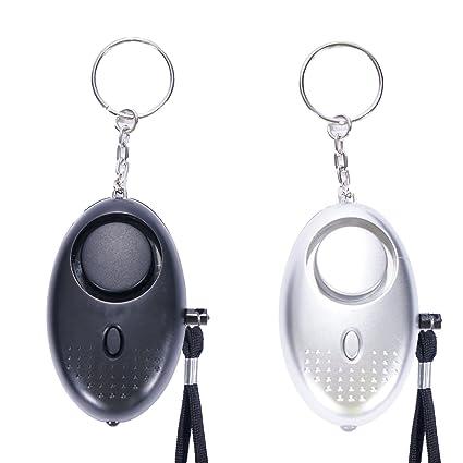 2 unidades de alarma personal con LED blanco SOS alarma de ...