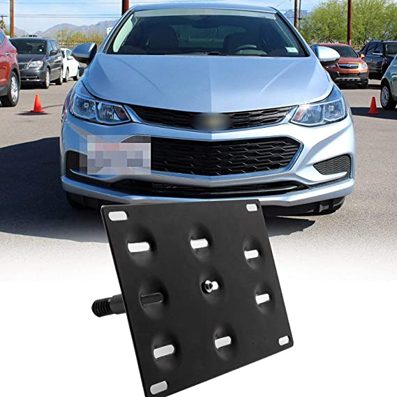Red Hound Auto Front License Plate Bumper Mounting Bracket Compatible with Chevrolet Cruze Chevy 2011-2014 Includes Screws and Mounting Hardware
