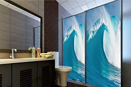 Amazon com: Horrisophie dodo 3D Privacy Window Film No Glue,Ocean