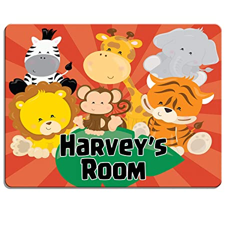 Personalised Door Name Sign Plaque Children/'s Dinosaur Bed Room Sign Boys Girls