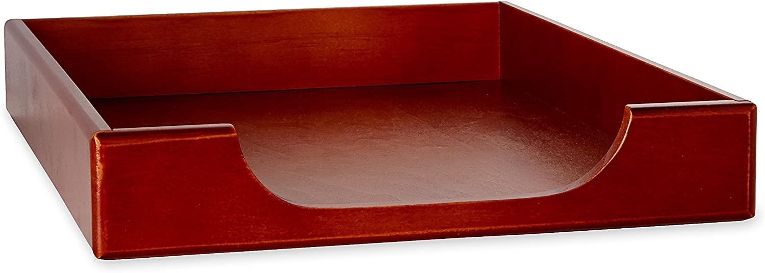 Rolodex Wood Tones Collection Desk Tray, Legal-Size, Mahogany (23360)