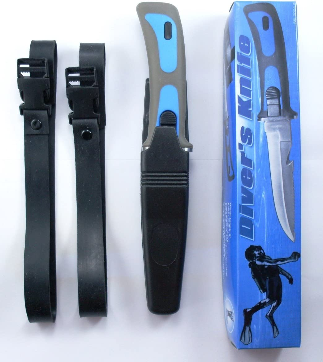 Scuba Diver Knives Diving Gear Knife Navy Seal Sheath Blue : Divers Knives And Shears : Sports & Outdoors