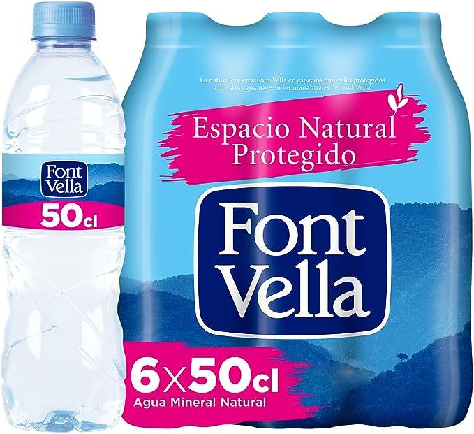 Font Vella Agua Mineral Natural - Pack 6 x 50cl: Amazon.es: Alimentación y bebidas