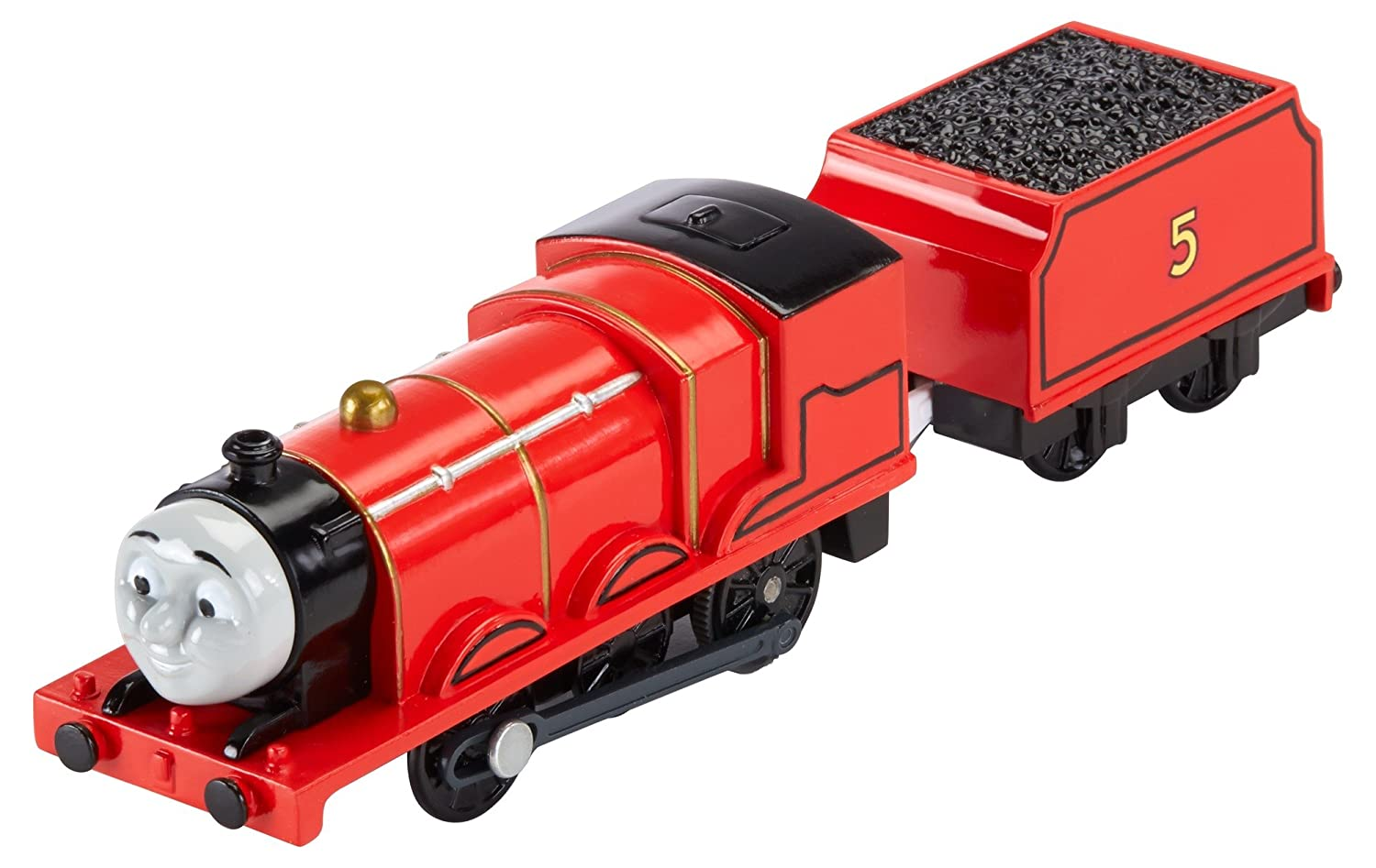 Thomas & Friends BML08 James, Thomas the Tank Engine Toy Engine, Trackmaster Toy Train, 3 Year Old Mattel