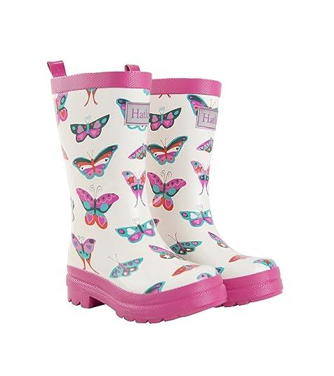Hatley Rainboot, Botas de Agua Chica, Groovy Butterflies, 20 EU