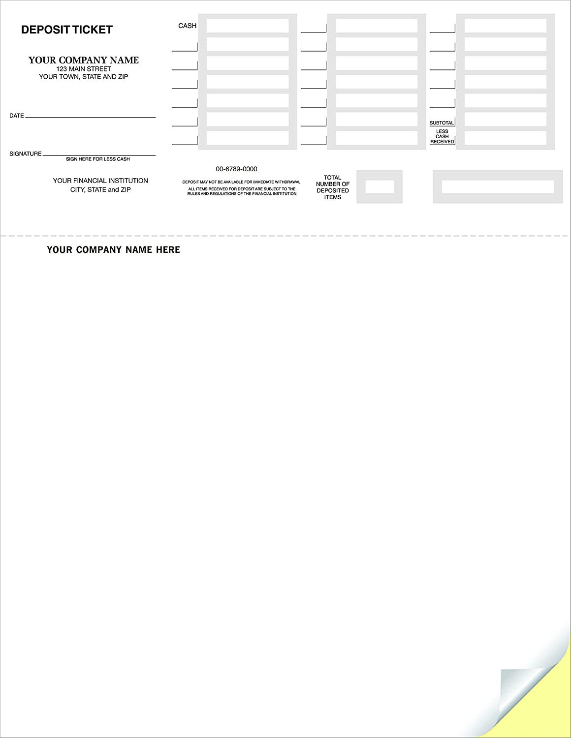 image regarding Quickbooks Printable Deposit Slips identify CheckSimple Laser Deposit Slips - Deposit Tickets Appropriate with QuickBooks Quicken (100 Qty) - Customized