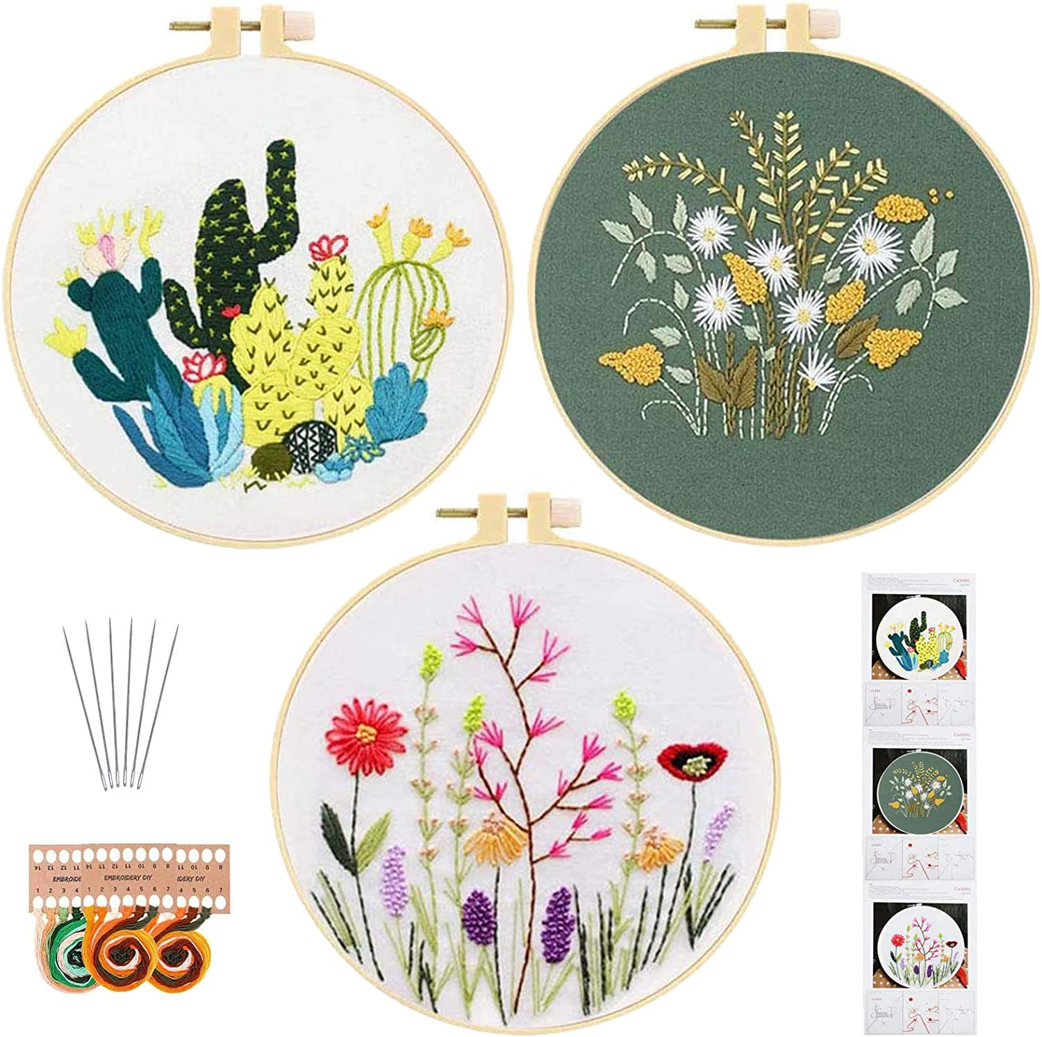 and Experts Cross-stitching and More \u2013 For Beginners Intermediate 7M 6 Pack Cotton Embroidery Thread \u2013 Needlepoint Embroidery
