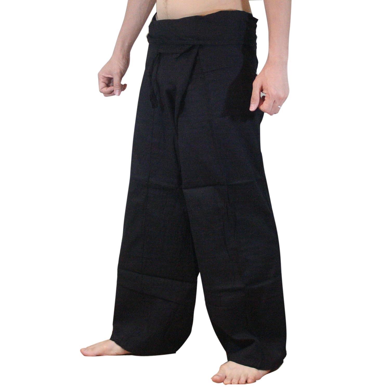 a46596a259c Amazon.com   Fisherman Pants Thick Cotton Thai Fisherman Pants   Shorts