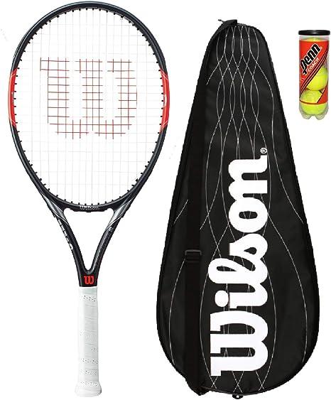 Wilson Tennisschl/äger Aluminium//Fiberglas Jugend- und Freizeitspieler Blade Feel Team 103 schwarz//lime