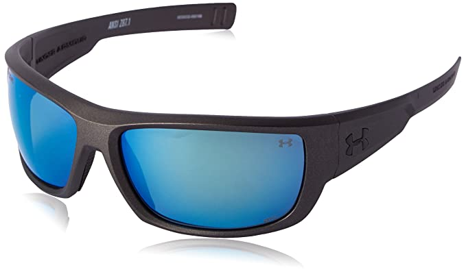 a9a3ff7e9e98 Under Armour Rumble Satin Carbon Frame, with Black Rubber and Storm (ANSI)  Gray