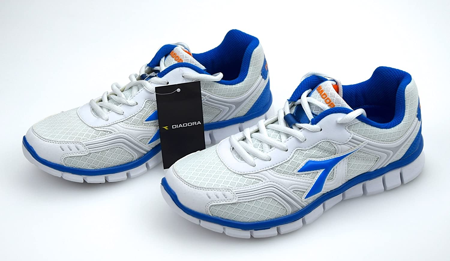 DIADORA SCARPA SNEAKER FITNESS DONNA ART. BLUE DINAMIK II 158156 BIANCO BLU METAL WHITE BLUE ART. METAL d843f3