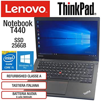 Lenovo ThinkPad T440 Intel Core i5-4300U 8GB RAM Tarjeta ...