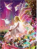 DIY 5D Resin Painting Kits Full Drill Diamond Embroidery Butterfly Fairy Diamond Mosaic Crafts Home Decor