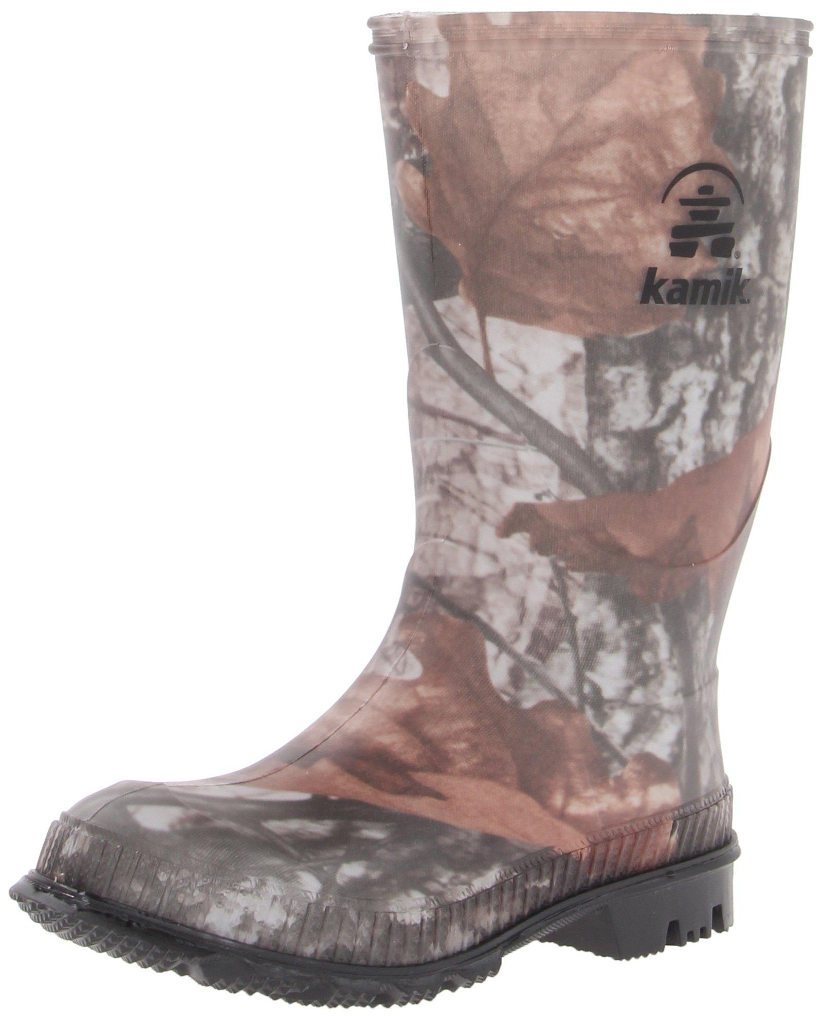 Kamik STOMP/KIDS/CAM/4176F Boot, Camo, 5 M US Big Kid