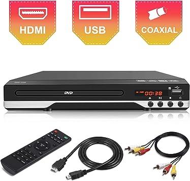 Reproductor de DVD Compacto para TV: Amazon.es: Electrónica