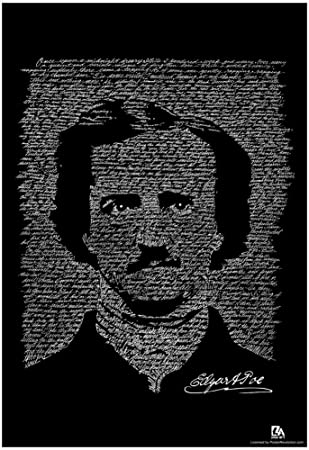 Amazon.com: Edgar Allan Poe The Raven Text Poster 13 x 19in: Toys ...
